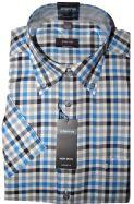 Eterna Short Sleeves Shirt - 2226/30 K244 - Blue Check
